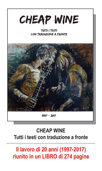 CHEAP WINE - TUTTI I TESTI